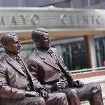 Home of the Mayo Clinic, Feith Statuary Park features bronze statues of the Mayo brothers