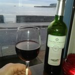 a fab wine and a fab view from the resturant