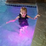 The 3 ft area of the Pirate Cove Pool with the fun underwater lights.