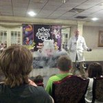 This was the Mad Science show the second evening of our stay