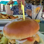 Cheese burger in paradise