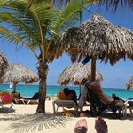 View from beach palapa