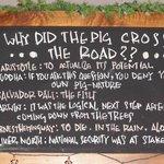 Truffle Pigs Blackboard