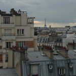 View of Eiffel Tower from balcony of Privelege room