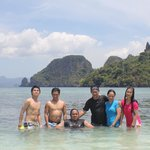 Snake Island Elnido Palawan. with  friends