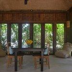 air-conditioned salon of Beachfront Villa