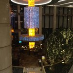 Lobby bar from stairway to Chinese restaurant on 2nd floor