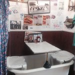 Bath tub table!