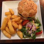 Mushroom and Goats Cheese Burger