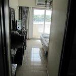 Hallway looking into room