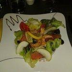 Salade de crevettes aux agrumes et pomme granny
