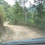 Straße zum Hotel (die letzten Kilometer)