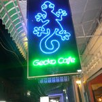Blue Gecko sign
