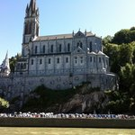 Lourdes from the river sides
