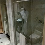 Shower... with rainfall shower head.  Nice touch