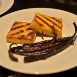 Polenta and purple carrots (side dish of the pork)