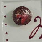 Moelleux chocolat coeur fraise