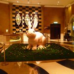 Easter decorations in the lobby