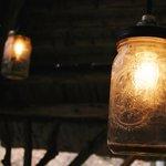 Lighting fixtures in the gazebo