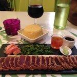 Thon kurosawa : faut pas se laisser aller ;) Wasabi et gingembre autour de thon mariné : un réga
