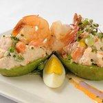 Shrimp stuffed Hass Avocado