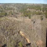 North rim recovering from Outlet Fire Year 2000.