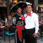 Friendly staff at Cinco de Mayo festivities.  Yazmin and Alfredo.  Great food and fun!