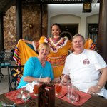 Karen and Morgan Christian celebrating Cinco de Mayo with our lovely hostess Ada.