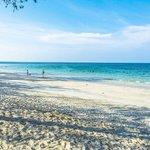 Long white sand beach at Trikora