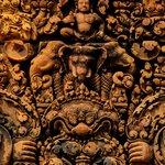 detalle del tallado de Banteay Srei