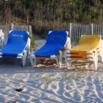 Beach chairs and umbrellas are available for your use!!