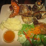 3 grilled lobster taill dinner special