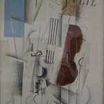 Braque: Violin and Newspaper