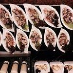 individual seafood salad @ buffett