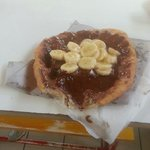 Langos with nutella and bananas... Delicious!