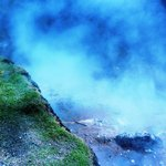 Steam coming out of the rocks