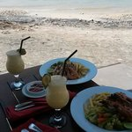 Beach lunch.  The food is superb!