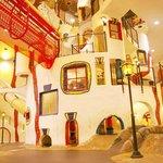 こどもの街 (Kids town, 4-5F):The Kids Town was designed by Mr. Hundertwasser from Austria. I