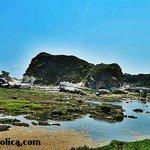 Kapurpurawan Rocks front view