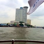 View towards the hotel from the free shuttle boat