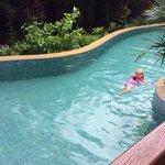 Garden pool access