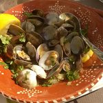 Poached clams