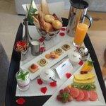 Simply beautiful breakfast tray