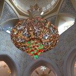 Artwork inside the mosque