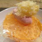 Naranja helada en sus texturas