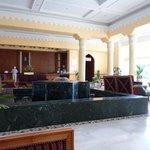 the beautiful reception area