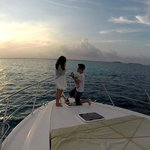 Proposal on the luxury sunset cruise. Great for couples!