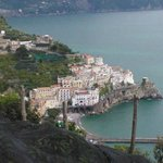 Vista di Amalfi dalla terrazza