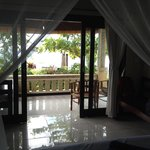 View from inside bungalow