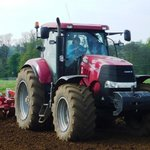 Cultivating with the large Case tractor